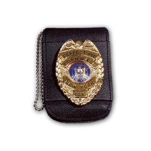 "Perfect Fit Universal Badge & ID Holder w/ Magnetic Closure & 30"" Chain"