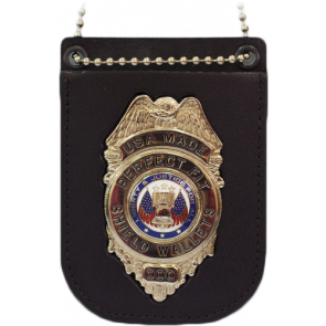 "Perfect Fit Recessed Badge Holder w/ Belt Clip & 30"" Chain"
